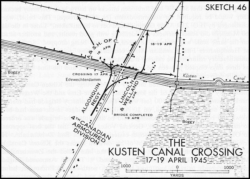 карта атаки канадскими войсками. Рядом с городом Friesoythe