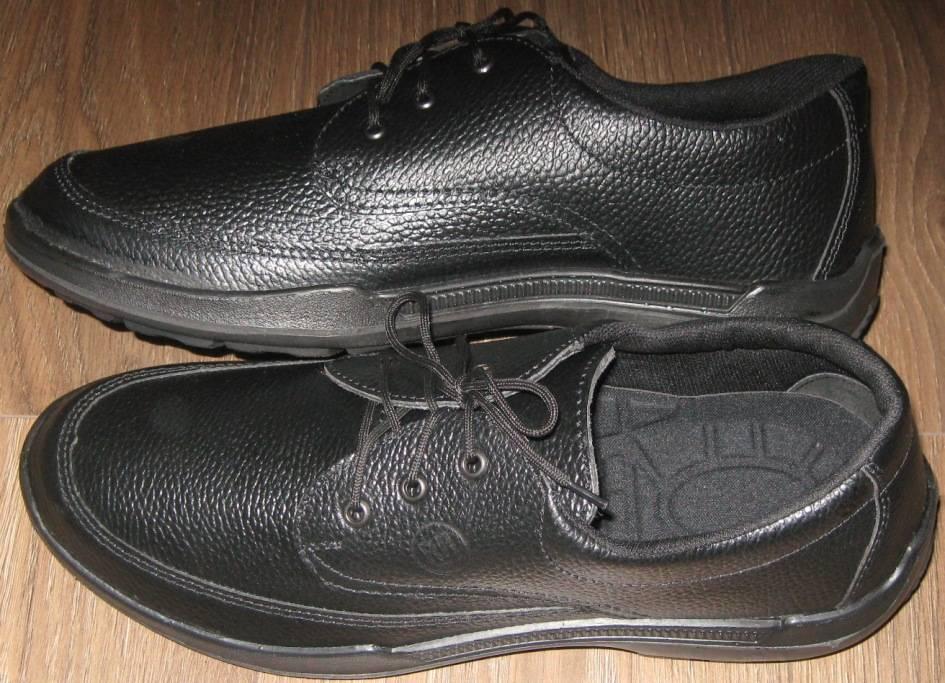 Полуботинки (нат.кожа, цвет черный) размер 47
