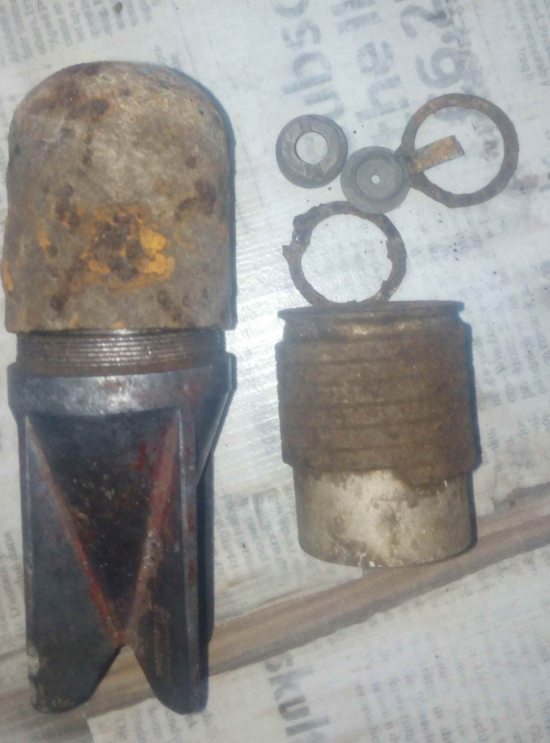Комплект для реставрации мины гранаты Брикси италия
