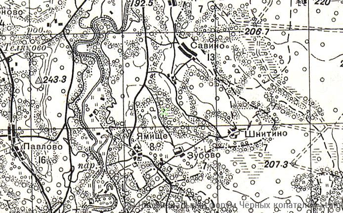 Карта РККА O-36 (В) • 1 км. Новгородская, Псковская и Тверская области. С привязкой OZI
